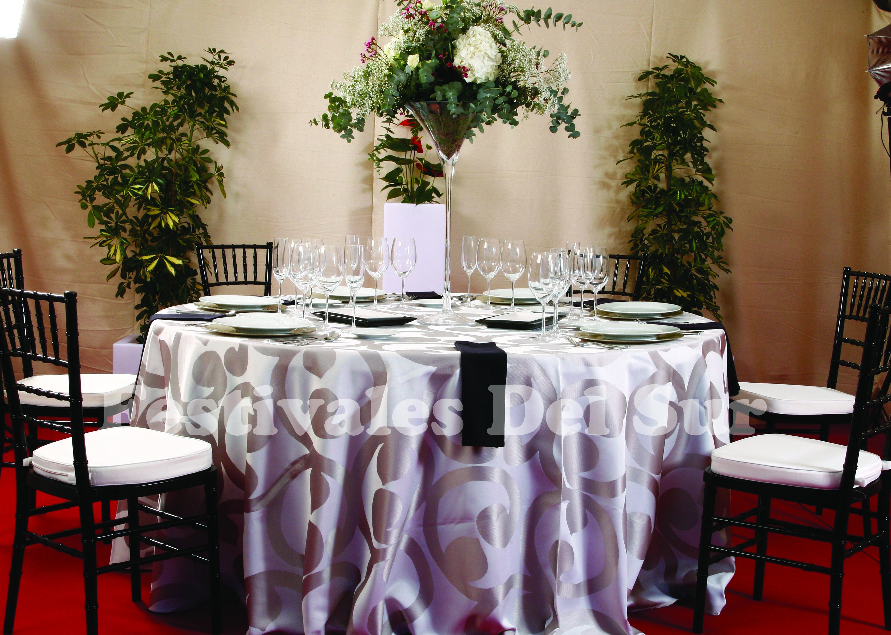 Rosa manteles de bodas - Manteles originales ...